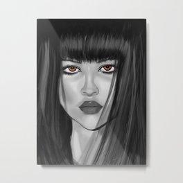 Dark haired girl Metal Print