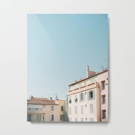 Pretty pretty Cannes | Pastel colored apartment buildings in the South of France Metal Print