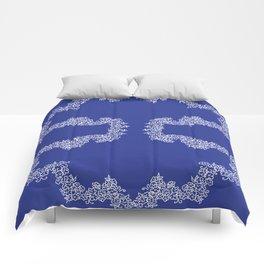 Navy Bunches Comforters