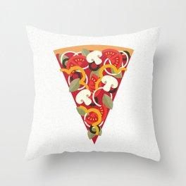 PIZZA POWER - VEGO VERSION Throw Pillow