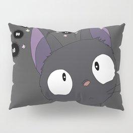 Jiji x sootballs in grey Pillow Sham