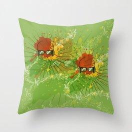 Male Dj Illustration Throw Pillow