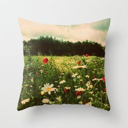 Poppies in Pilling Throw Pillow