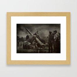 British Heavy Gun Framed Art Print