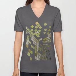 Green Squares. Fashion Textures Unisex V-Neck