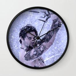 Bam Bam the Snow Warrior Wall Clock