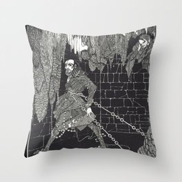 The Cask of Amontillado by Harry Clarke Throw Pillow