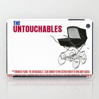 movie poster iPad Cases featuring The Untouchables Movie Poster by FunnyFaceArt