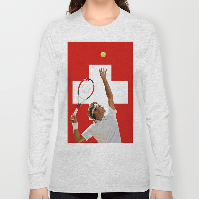 9780ad71 Roger Federer | Tennis Long Sleeve T-shirt by emarlow | Society6