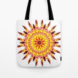 vintage sunflower mandala Tote Bag