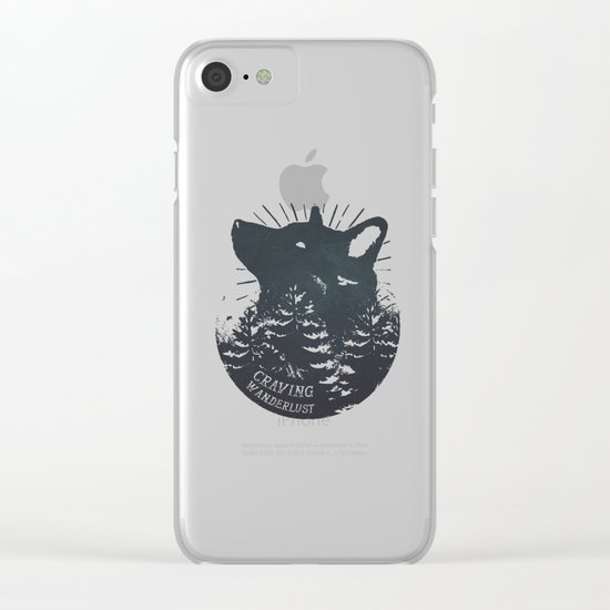 Craving wanderlust Clear iPhone Case