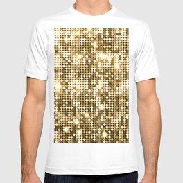 Golden Metallic Glitter Sequins T-shirt