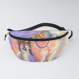 Toccata the Pink and White Horse Fanny Pack