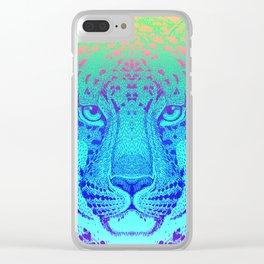 Nocturnal (Wild Leopard) Clear iPhone Case