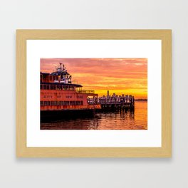 Ferry Boat John F. Kennedy Framed Art Print
