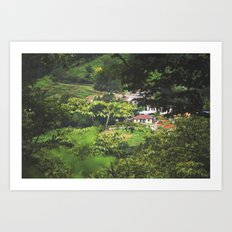 Surrounded in Green Art Print