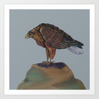 eagle Art Prints featuring Eagle  by ArtSchool