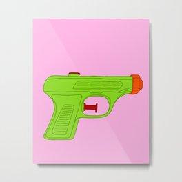 Green Squirt Gun Metal Print