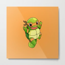 TMNT_POKET_MONSTER_orange Metal Print