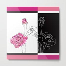 Roses - positive and negative Metal Print