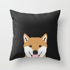 Indiana - Shiba Inu gift design for dog lovers and dog people Throw Pillow