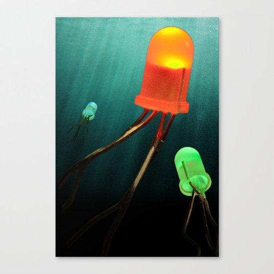 LED Jellyfish Canvas Print