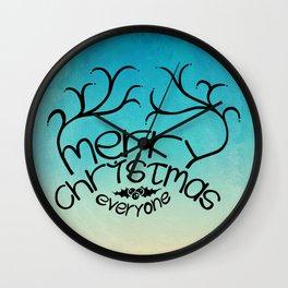 merry christmas everyone Wall Clock