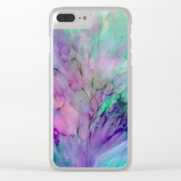 ALCOHOL INK Cvb Clear iPhone Case