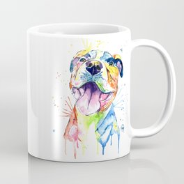 Pit Bull, Pitbull Watercolor Painting - The Softer Side Coffee Mug