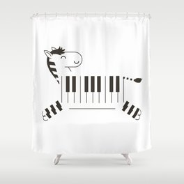 Life is like a piano Shower Curtain
