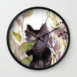Adder in the Garden Wall Clock