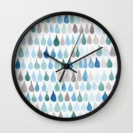 #82. DAN - Rain Drops Wall Clock