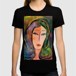 Pop Girl with Dots Frame T-shirt