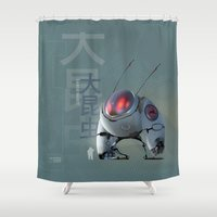 large Shower Curtains featuring Large Insect by Glenn Melenhorst