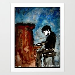 There is Poetry in the Way He Plays Art Print