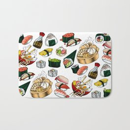 Sushi White Bath Mat
