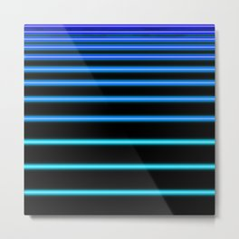 Turquoise to Blue Neon Metal Print