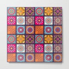 Pattern form Mandala Metal Print