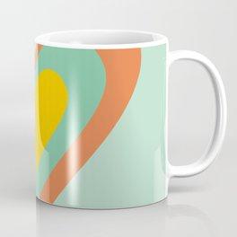 Three hearts on turquoise Coffee Mug