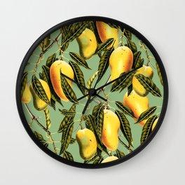 Mango Season #society6 #decor #buyart Wall Clock