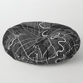 Winnipeg - Minimalist City Map Floor Pillow