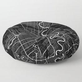 Winnipeg - Minimalist City Map Floor Pillow