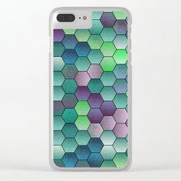 Honeycomb hexagonal Clear iPhone Case