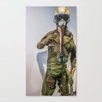 pilot Canvas Prints featuring Pilot by sannngat