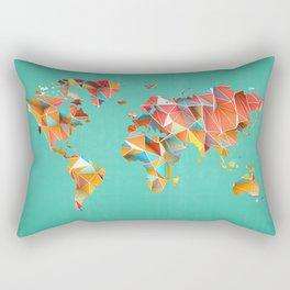 Geometric Map Rectangular Pillow