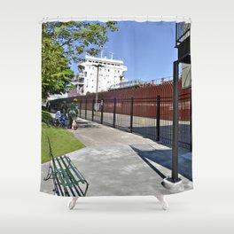 Freighter Locking Down Shower Curtain