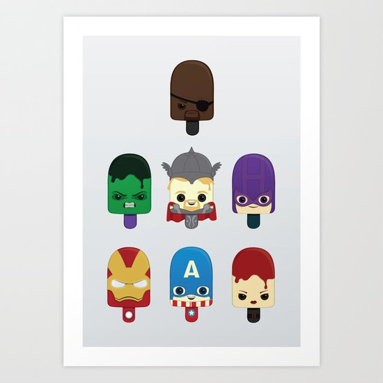The Avengers: Earth's Mightiest Popsicles Art Print