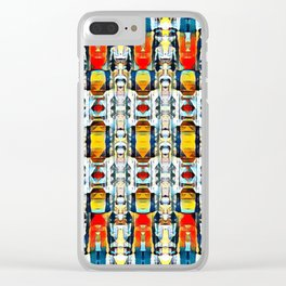 Colorful Soldiers Clear iPhone Case