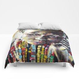 Reverie - Ethnic African portrait Comforters