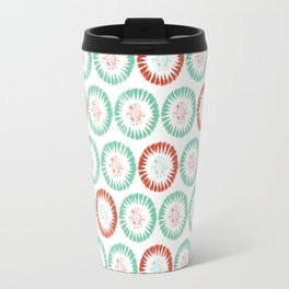 Block Print Circles Travel Mug